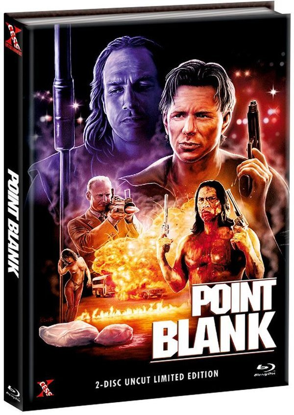 Point Blank (1998) (Cover B, Limited Edition, Mediabook, Uncut, Blu-ray + DVD)