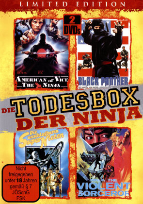 Die Todesbox der Ninja - American of Vice - The Ninja / Die unschlagbaren Supernieten / Black Ninja - Black Panther / Ninja, the Violent Sorcerer (Limited Edition, 2 DVDs)