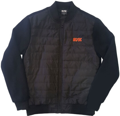 AC/DC Unisex Quilted Jacket - Logo