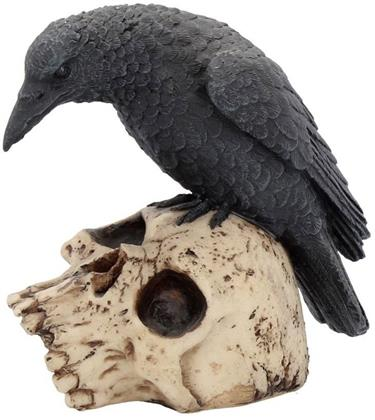 Raven Remains Figurine - Crow Skull Gothic Ornament