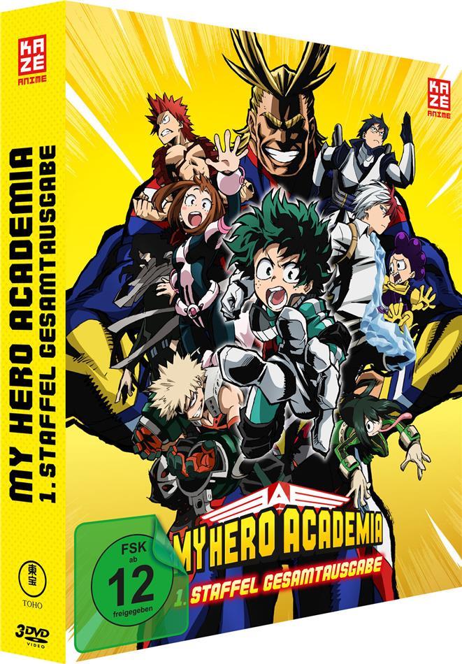 My Hero Academia - Staffel 1 (Gesamtausgabe, Deluxe Edition, 3 DVDs)