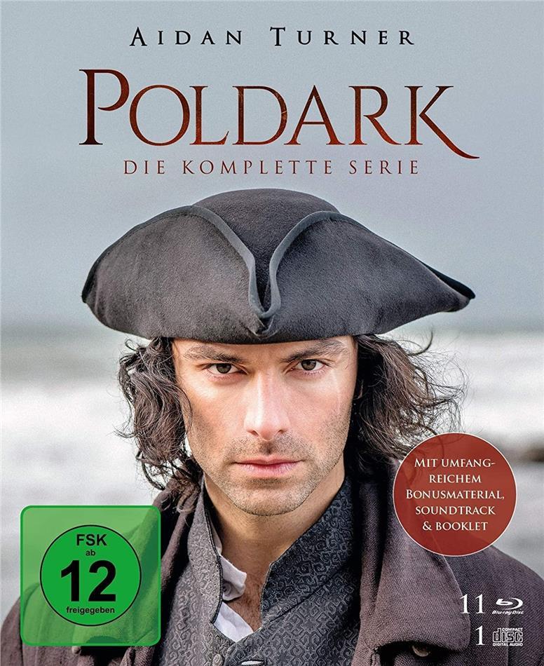 Poldark - Die komplette Serie (11 Blu-rays + CD)