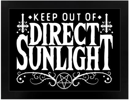Keep Out of Direct Sunlight - Wooden Framed Print