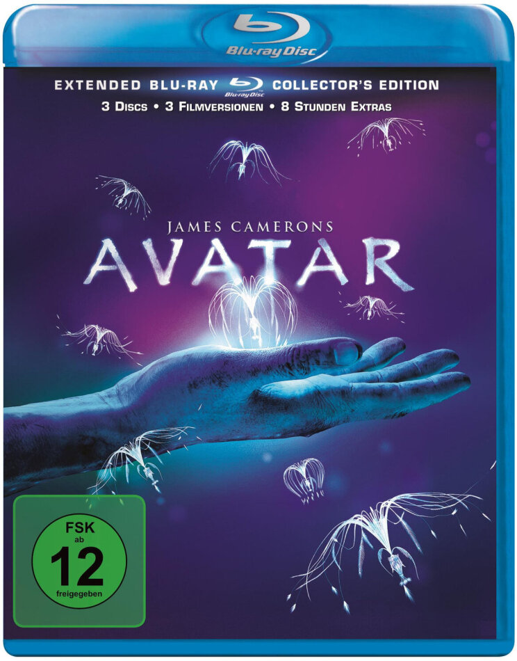 Avatar (2009) (Extended Collector's Edition, Extended Edition, Kinoversion, Neuauflage, 3 Blu-rays)