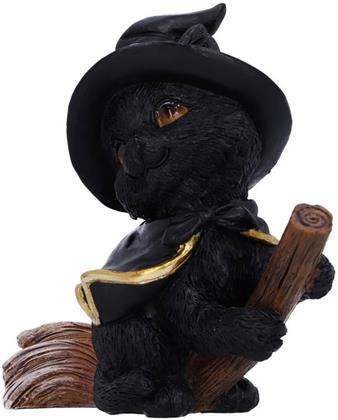 Tabitha: Witches Familiar - Small Black Cat and Broomstick Figurine