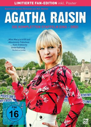 Agatha Raisin - Staffeln 1-3 (Limited Fan Edition, Poster, 7 DVDs)