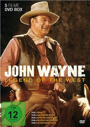John Wayne - Legend of the West - Rodeo / Der schwarze Reiter / Reiter der Gerechtigkeit / Das Gesetz des Stärkeren / Im Schatten des Adlers (5 DVDs)