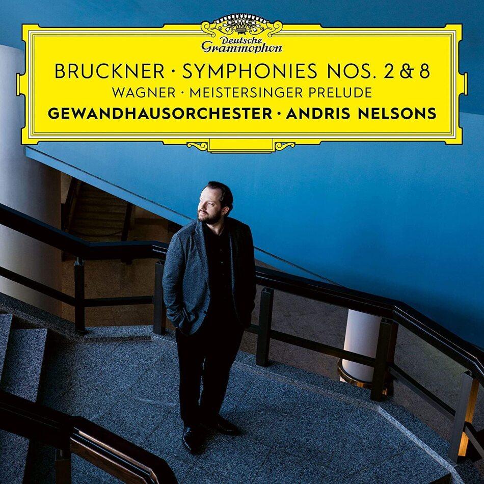 Andris Nelsons, Gewandhaus Orchester Leipzig, Anton Bruckner (1824-1896) & Richard Wagner (1813-1883) - Symphonies No 8 & 2 / Meistersinger Prelude (2 CDs)