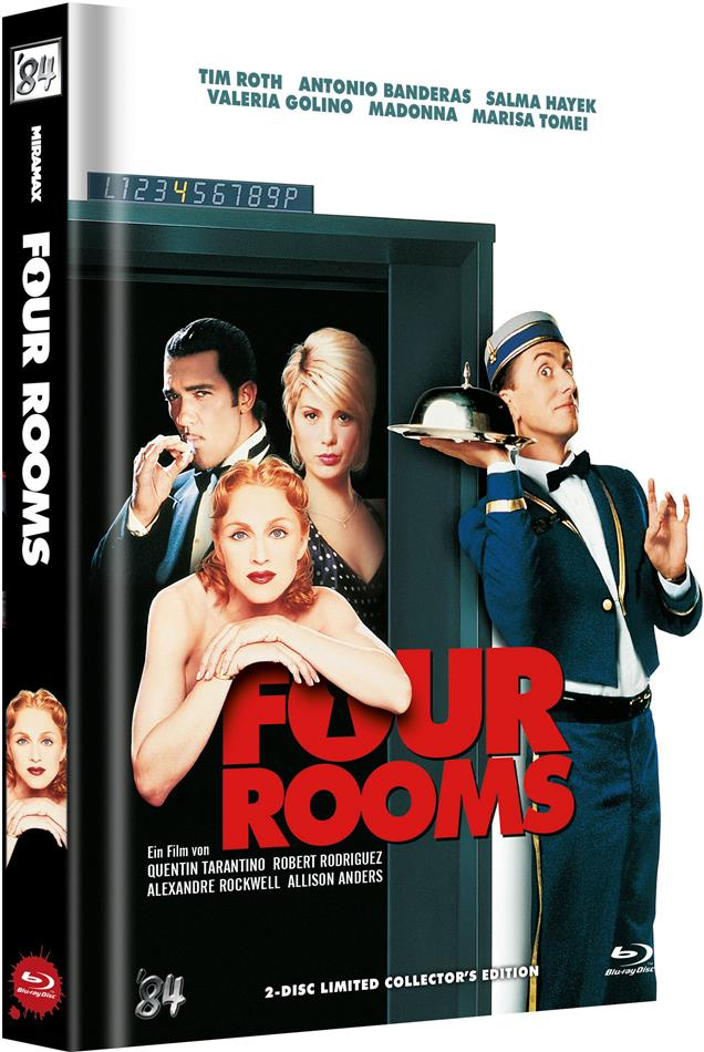 Four Rooms (1995) (Cover B, Limited Collector's Edition, Mediabook, Uncut, Blu-ray + DVD)