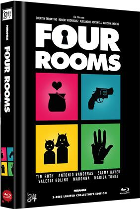 Four Rooms (1995) (Cover C, Limited Collector's Edition, Mediabook, Uncut, Blu-ray + DVD)