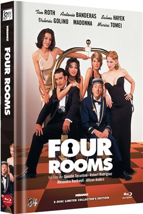 Four Rooms (1995) (Cover D, Collector's Edition Limitata, Mediabook, Uncut, Blu-ray + DVD)