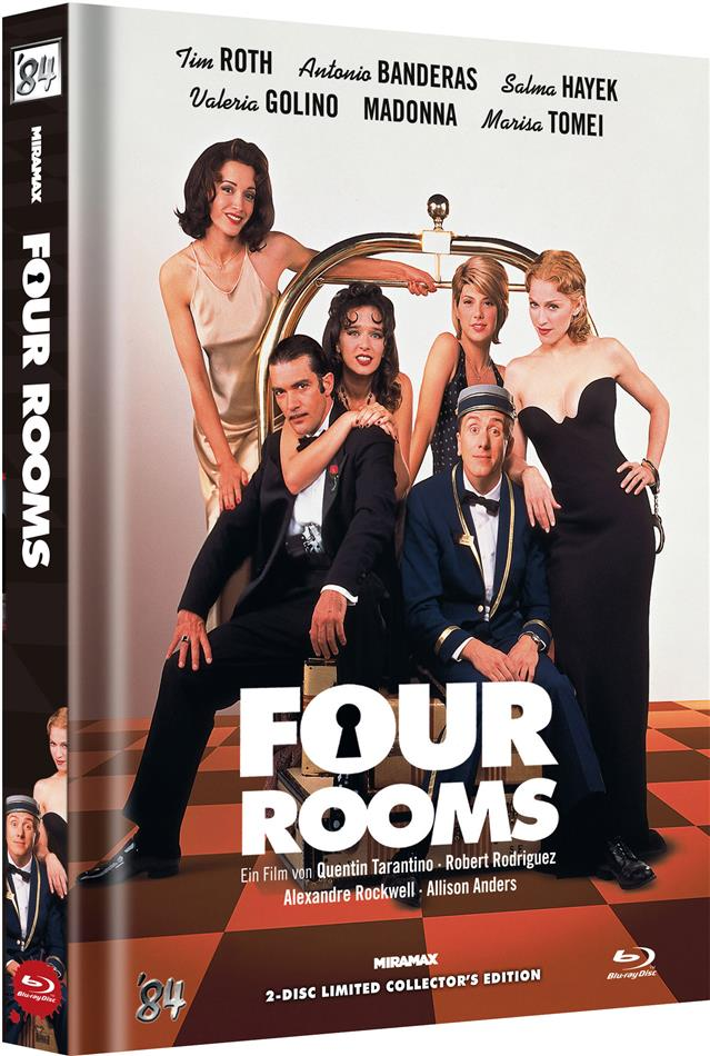 Four Rooms (1995) (Cover D, Limited Collector's Edition, Mediabook, Uncut, Blu-ray + DVD)