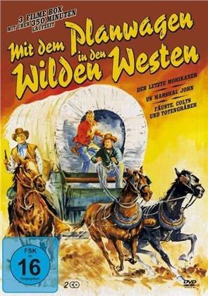 Mit dem Planwagen in den Wilden Westen - Der letzte Mohikaner / US Marshal John / Fäuste, Colts und Totengräber (2 DVDs)