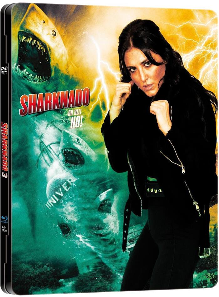 Sharknado 3 - Oh hell no! (2015) (Limited Edition, Steelbook, Uncut, Blu-ray + DVD)