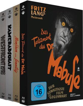 Westfront 1918 / Kameradschaft / Menschen am Sonntag / Das Testament des Dr. Mabuse (Edizione Limitata, Mediabook, 4 Blu-ray + 4 DVD)