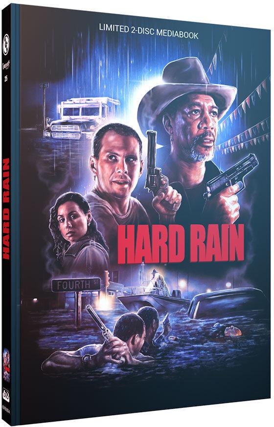 Hard Rain (1989) (Cover A, Limited Edition, Mediabook, Blu-ray + DVD)