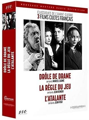 Drôle de drame / La règle du jeu / L'Atalante - Classiques de l'avant-guerre - 3 films cultes français (3 DVDs)