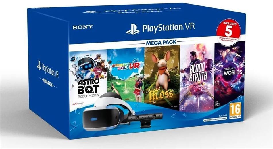 Playstation 4 VR Mega Pack + Kamera + 5 Games