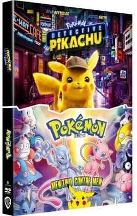 Pokémon - Detective Pikachu (2019) / Pokémon le film - Mewtwo contre Mew (1998) (2 DVD)