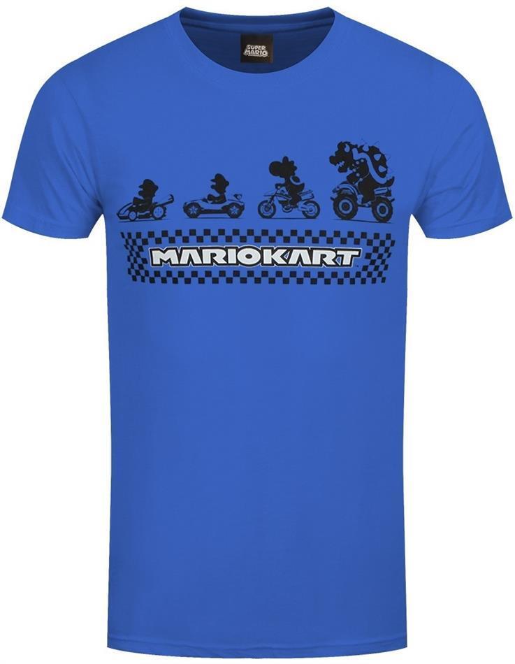 Nintendo Super Mario Kart: Silhouette - Men's T-Shirt - Grösse M