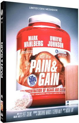Pain & Gain (2013) (Cover D, Limited Edition, Mediabook, Blu-ray + DVD)