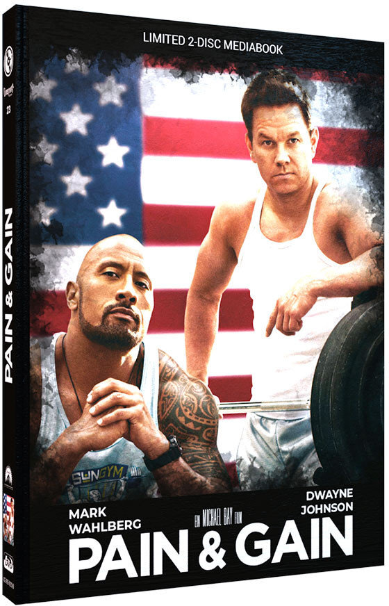 Pain & Gain (2013) (Cover B, Limited Edition, Mediabook, Blu-ray + DVD)