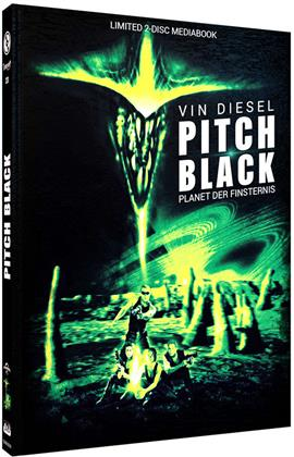 Pitch Black (2000) (Cover B, Limited Edition, Mediabook, Blu-ray + DVD)
