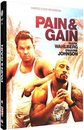 Pain & Gain (2013) (Cover C, Limited Edition, Mediabook, Blu-ray + DVD)
