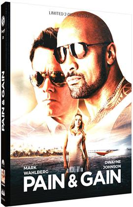 Pain & Gain (2013) (Cover A, Limited Edition, Mediabook, Blu-ray + DVD)