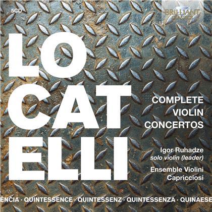 Ensemble Violini Capriccioso, Pietro Antonio Locatelli (1695-1764) & Igor Ruhadze - Complete Violin Concertos (5 CDs)