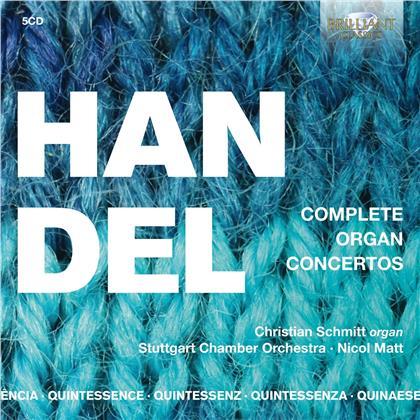 Georg Friedrich Händel (1685-1759), Nicol Matt, Christian Schmitt & Stuttgart Chamber Orchestra - Complete Organ Concertos (5 CDs)