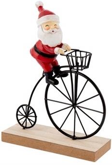 Weihnachtsmann Velo - Dekoration