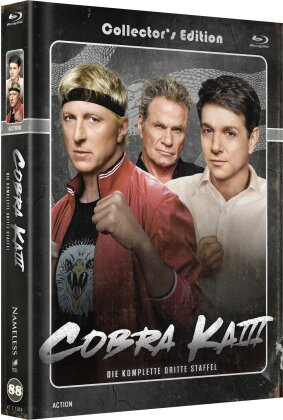 Cobra Kai - Staffel 1 (Cover B, Limited Edition, Mediabook, 2 Blu-rays + 2 DVDs)