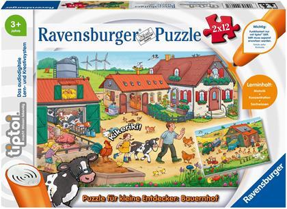 tiptoi® Puzzle für kleine Entdecker: Bauernhof - 2x 12 Teile