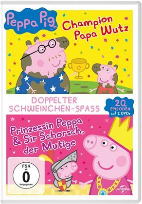Peppa Pig - Champion Papa Wutz / Prinzessin Peppa & Sir Schorsch, der Mutige (2 DVDs)