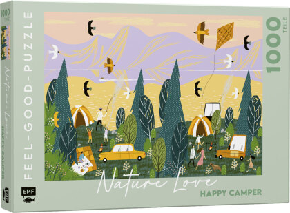 NATURE LOVE: Happy Camper - Feel-good-Puzzle 1000 Teile
