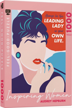 INSPIRING WOMEN: Audrey Hepburn - Feel-good-Puzzle 1000 Teile