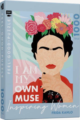INSPIRING WOMEN: Frida Kahlo - Feel-good-Puzzle 1000 Teile
