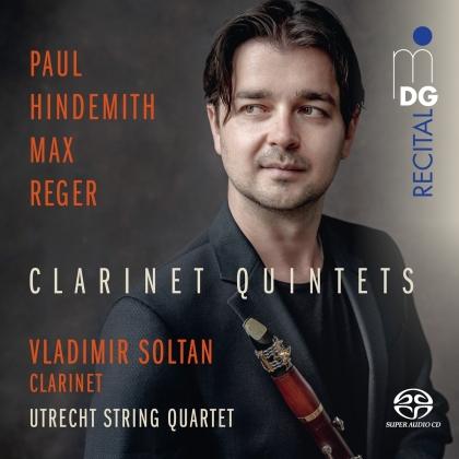 Utrecht String Quartet, Paul Hindemith (1895-1963), Max Reger (1873-1916) & Vladimir Soltan - Clarinet Quintets (Hybrid SACD)