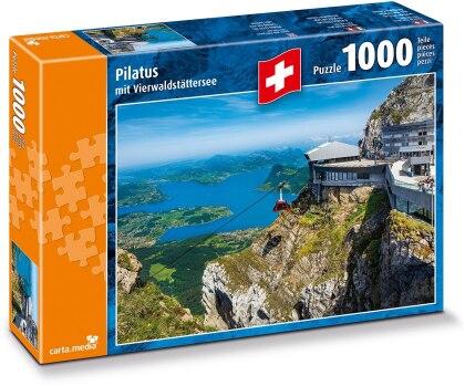 Pilatus mit Vierwaldstättersee - 1000 Teile Puzzle