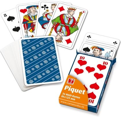Piquetkarten Maxi - Edelweiss