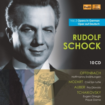 Jacques Offenbach (1819-1880), Wolfgang Amadeus Mozart (1756-1791), Daniel-François-Esprit Auber (1782-1871), Peter Iljitsch Tschaikowsky (1840-1893) & Rudolf Schock - Opera In German 2 - Oper auf Deutsch (10 CDs)