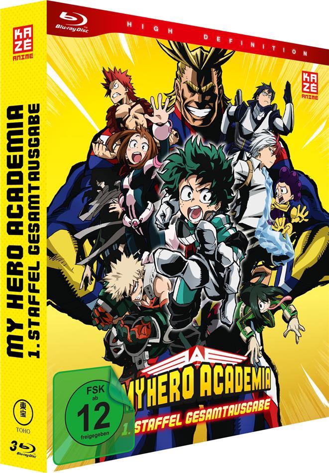 My Hero Academia - Staffel 1 (Gesamtausgabe, Deluxe Edition, 3 Blu-rays)
