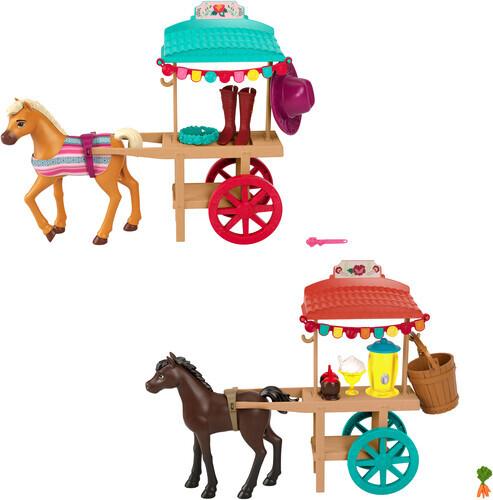 Spirit Festival Pony & Stand - 1 Stück / 2-fach assortiert, Pony ca. 13 cm