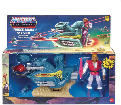 Masters of the Universe Origins - Sky Sled & Prince Adam