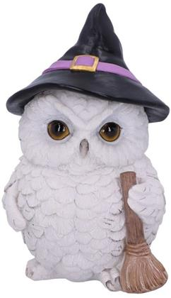 Snowy Magic Witch Owl Familiar Figurine