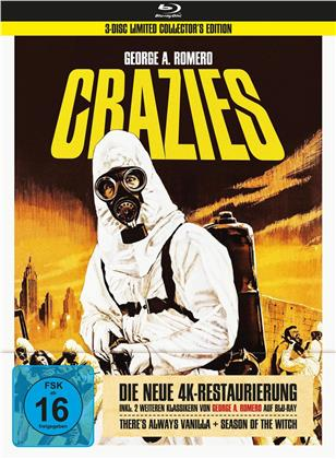 Crazies - Inkl. 2 weiteren Klassikern von George A. Romero - Theres always Vanilla & Season of the Witch (1973) (4K-restauriert, Collector's Edition Limitata, Mediabook, 3 Blu-ray)