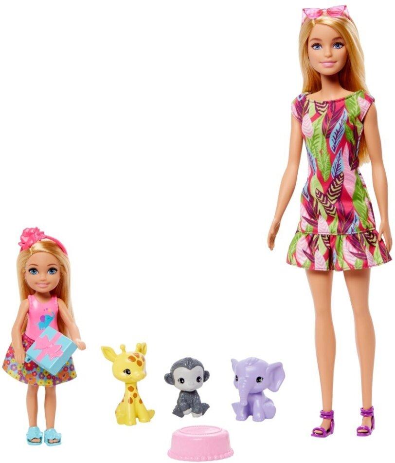 """Barbie und Chelsea """"Dschungelabenteuer"""" - Spielset mit Zubehör"""