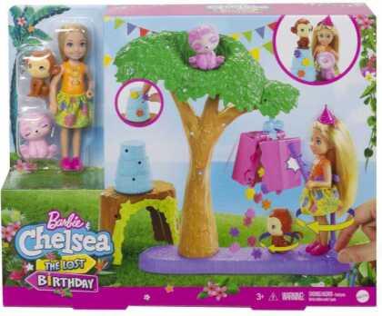 """Barbie und Chelsea """"Dschungelabenteuer"""" Pinataspaß-Spielset"""