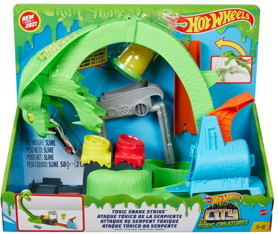 Hot Wheels City Kobra Schleim-Attacke